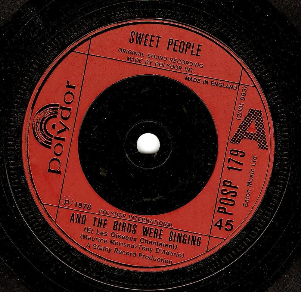 SWEET PEOPLE And The Birds Were Singing Vinyl Record 7 Inch Polydor 1978